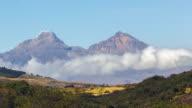 The twin peaks of the Illinizas, Ecuador, Time-lapse.