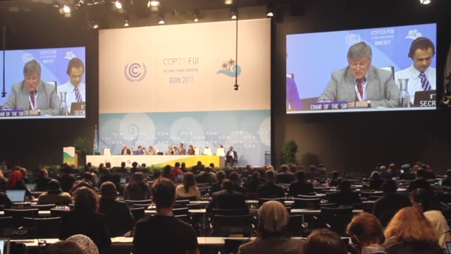 The UN Climate Change Conference COP23 continues in Bonn Germany on November 76 2017 Some 195 states 80 international organizations and more than...