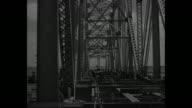 WS the underconstruction Huey P Long Bridge spans the Mississippi River in Jefferson Parish near New Orleans / section of bridge under construction /...