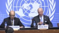 The UNs Syria envoy Staffan de Mistura says that he plans to hold another round of peace talks in May but calls for a ceasefire before setting a date