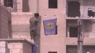 The US backed Syrian Democratic Forces militia was fighting Islamic State jihadists in Raqa on Monday