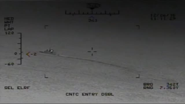 The US Navy released a blackandwhite video on Saturday it said was taken by an American helicopter showing anIranian military vessel firing several...