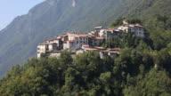 The Valsolda municipality at the Lugano lake between Italy and Switzerland