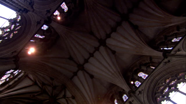 The vaulted ceiling of Ely Cathedral. Available in HD.
