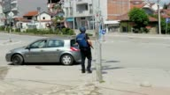 The video displays the site on Tode Mendol street where two days of clashes between security forces and an armed group took place in Kumanovo...