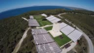 The video shows aerial views of 57th Infantry Regiment's Cemetery Memorial Lone Pine Cemetery Chunuk Bair and trenches located on Anzac Cove on the...