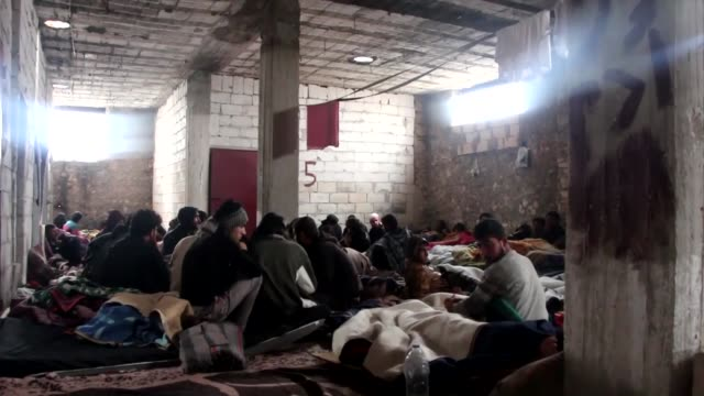 The video shows the camp of hostages who were captured by AlNusra Front in Idlib Syria on 9 December 2014
