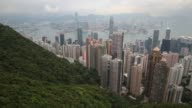 The view from the peak overlooking Hong Kong Island and Kowloon peninsula in Hong Kong on March 20 2013 in Hong Kong Hong Kong The Peak also known as...