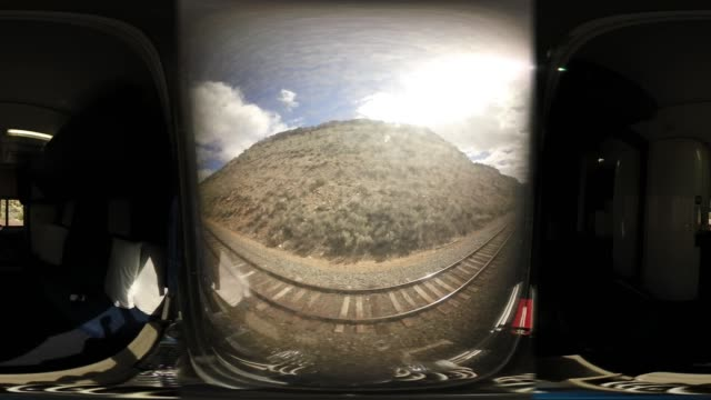 'The view is seen from the window of a sleeping car on Amtrak's California Zephyr during its daily 2438mile trip to Emeryville/San Francisco from...