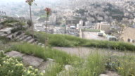 The view over Amman from the Amman Citadel- a national historic site at the centre of downtown Amman, Jordan.