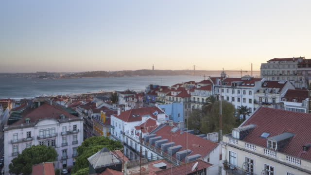 The view over Lisbon from the Bairro Alto Hotel.