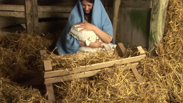 """Die Jungfrau Maria mit baby Jesus in stabiler (""""Christmas Story"""