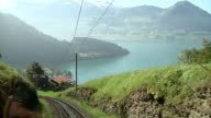 The Vitznau–Rigi Railway overlooking Lake Lucerne