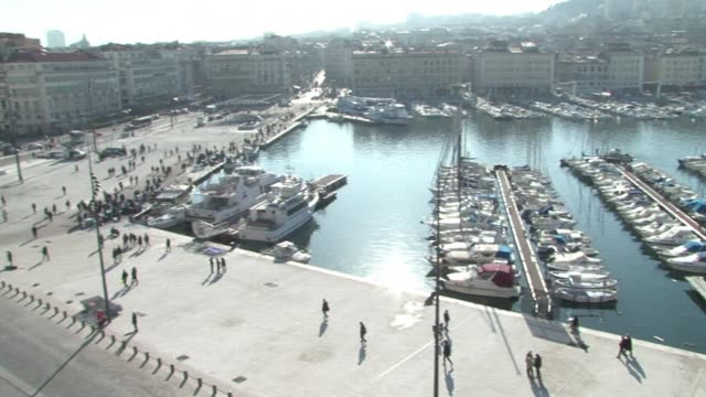 The walkway along the Old Port in Marseille was re opened to pedestrians Monday five days before the citys inauguration as the 2013 European Capital...