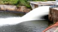 The water stream of dam