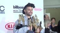 The Weeknd at 2016 Billboard Music Awards Press Room at TMobile Arena on May 22 2016 in Las Vegas Nevada