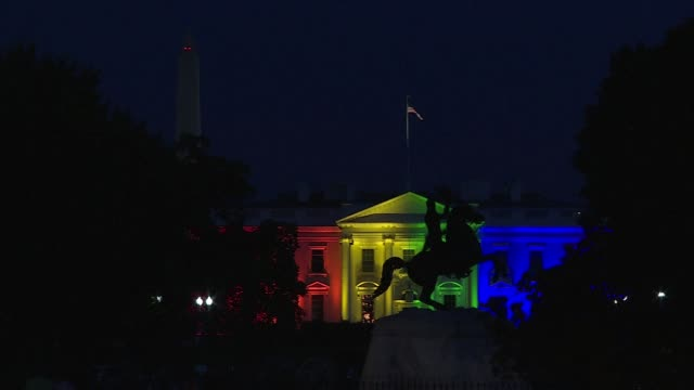 The White House was lit up with the colors of the rainbow on Friday to mark the Supreme Courts historic decision legalizing gay marriage across the...