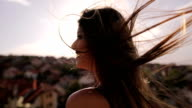 The wind in her hair