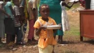 The World Food Programme is distributing food in schools in Bangui to fight against child malnutrition with 50000 children benefiting every day as...