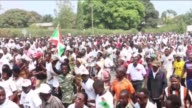 The youth league of the party in power in Burundi which the United Nations describes as a militia held a protest of strength on Saturday during its...