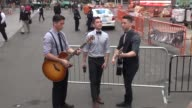The YouTube phenoms Boyce Avenue band outside of the Good Morning America show in Celebrity Sightings in New York