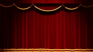 Theater Vorhang von Chroma Key Hintergrund