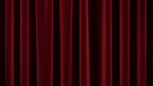 Theater curtain opens and close.