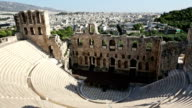 Theater Of Herodes Atticus over Acropolis in Athens
