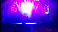 Alice Cooper joins cast of 'Rock Of Ages' for a night ENGLAND London Shaftesbury Avenue INT **Music heard SOT** Alice Cooper and band rehearsing on...