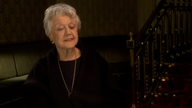 Angela Lansbury to appear in 'Blithe Spirit' ENGLAND London INT Lansbury interview SOT On whether the Queen is a fan of 'Murder She Wrote'