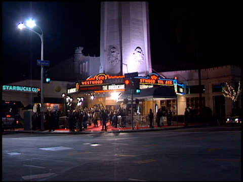 Theatre Exterior at the Premiere of 'The Hurricane' at the Mann Village Theatre in Westwood California on December 14 1999