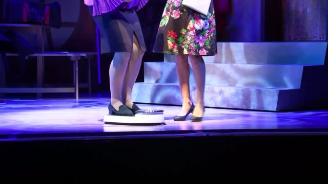 Freddie Flintoff makes stage debut in Fat Friends musical West Yorkshire Leeds Grand Theatre INT Sam Bailey and cast of 'Fat Friends the Musical'...