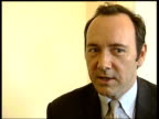 Interview with Kevin Spacey ENGLAND London The Old Vic Theatre INT Kevin Spacey interview SOT It has a life / It is not this old dusty place / Not a...