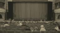 Theater ist mit Zuschauern (timelapse