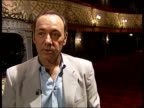 Kevin Spacey interview Did 'Iceman Cometh' ten years ago and fell in love with this theatre asked to go on commitee to find artistic director when I...