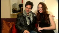'Love Never Dies' musical Interviews with Ramin Karimloo and Sierra Boggess ENGLAND London INT Ramin Karimloo and Sierra Boggess interview set up SOT...