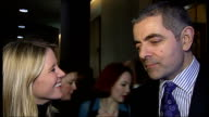 New production of musical 'Oliver' Rowan Atkinson interview SOT Rowan Atkinson and Jodie Prenger taking curtain call with other cast members