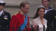Their Royal Highnesses Prince William Duke of Cambridge and Catherine Duchess of Cambridge at the Royal Wedding Departures Westminster Abbey A Camera...