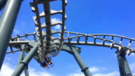 Theme park rollercoaster ride