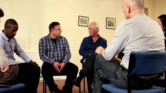 Therapy / Discussion group, Counselling, Man talking
