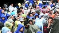 There were chaotic scenes at the border between Serbia and Croatia on Monday as thousands of migrants gathered and were initially blocked from passing
