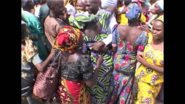 There were emotional scenes as 82 kidnapped Chibok girls released by Boko Haram Islamists earlier this month were reunited with their parents