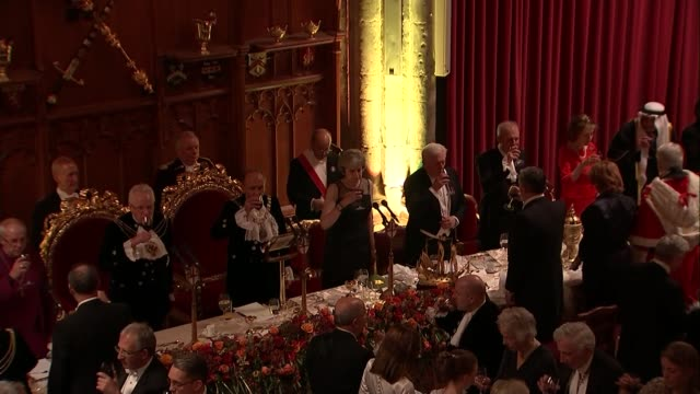 Theresa May accuses Russia of spreading fake news and 'meddling' in elections ENGLAND London Guildhall Lord Mayor's Banquet PHOTOGRAPHY ** Theresa...
