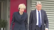 Theresa May and Philip Hammond boarding a plane to China on the way to the G20 Summit