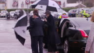 Theresa May arriving in Swansea