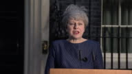 Theresa May calling for the House of Commons to vote in favour of a snap General election
