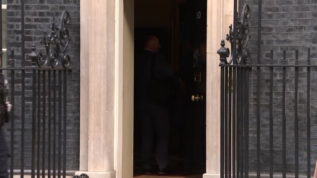 Theresa May chairs meeting with housing stakeholders arrivals and GVs of meeting ENGLAND London Downing Street EXT Boris Johnson MP departs No10 /...