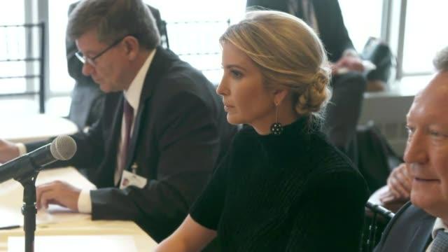 Theresa May chairs modern slavery meeting at UN USA New York New York City UN headquarters INT Theresa May MP sat next to Antonio Guterres as...