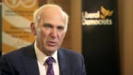 Theresa May insists government is driven from the front over Brexit ENGLAND Dorset Bournemouth INT Sir Vince Cable MP interview SOT The government's...