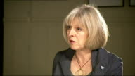 Dumfries INT Theresa May MP interview SOT Re Rotherham sexual abuse scandal and UK security